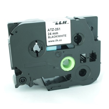 Páska ATZ-251 bílá/černý tisk, 24 mm