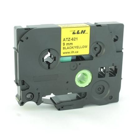 Páska ATZ-621 žlutá/černý tisk, 9 mm