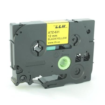 Páska ATZ-631 žlutá/černý tisk, 12 mm