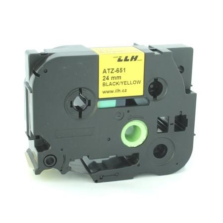 Páska ATZ-651 žlutá/černý tisk, 24 mm