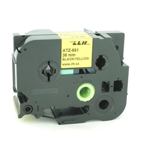 Páska ATZ-661 žlutá/černý tisk, 36 mm