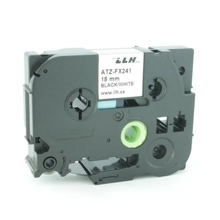 Páska ATZ-FX241 bílá/černý tisk, 18 mm, flexibilní