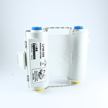 Barvící páska CPMR41-RC bílá s kazetou