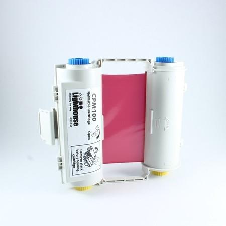 Barvící páska CPMR42-RC červená s kazetou