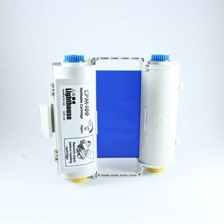 Barvící páska CPMR43-RC modrá s kazetou