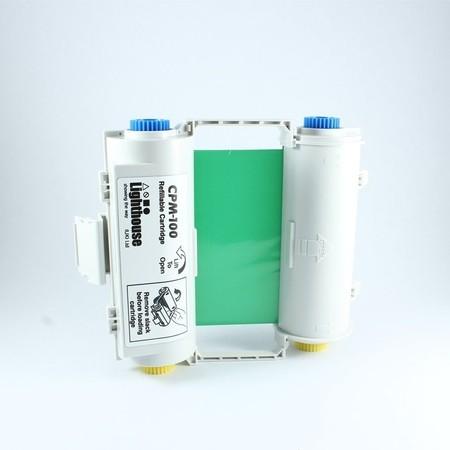 Barvící páska CPMR44-RC zelená s kazetou