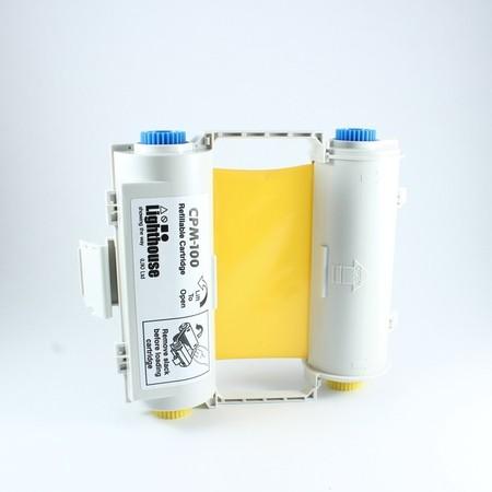 Barvící páska CPMR45-RC žlutá s kazetou