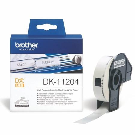 Papírové štítky Brother DK11204, 17x54 mm, 400 ks