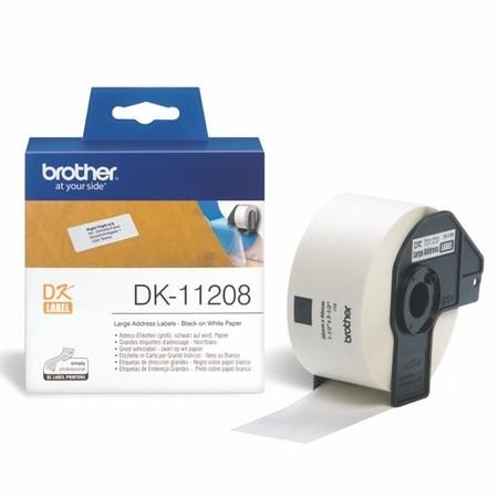 Papírové štítky Brother DK11208, 38x90 mm, 400 ks