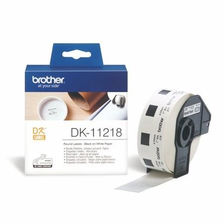 Papírové štítky Brother DK11218 kulaté, průměr 24 mm, 1000 ks
