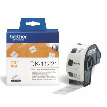 Papírové štítky Brother DK11221, 23x23 mm, 1000 ks