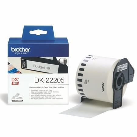 Papírová role Brother DK22205, šířka 62 mm