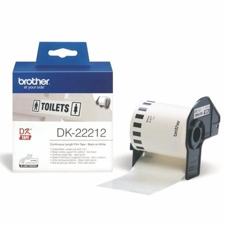 Filmová role Brother DK22212 bílá, šířka 62 mm