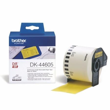 Papírová role Brother DK44605 žlutá, šířka 62 mm, snímatelná