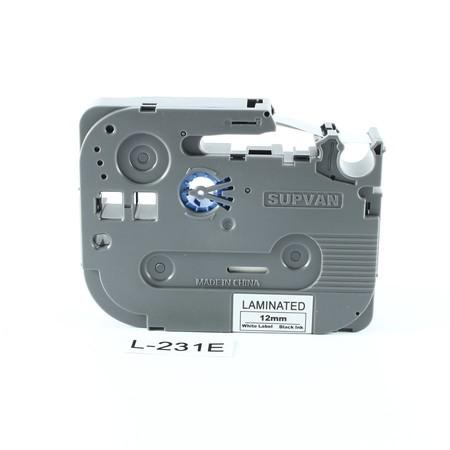 Páska Supvan L-231E bílá/černý tisk, 12 mm