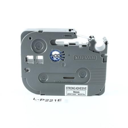 Páska Supvan L-P221E bílá/černý tisk, 9 mm, silné lepidlo