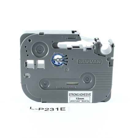 Páska Supvan L-P231E bílá/černý tisk, 12 mm, silné lepidlo
