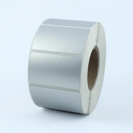 Plastové štítky 41x33 mm stříbrné, 1000 ks