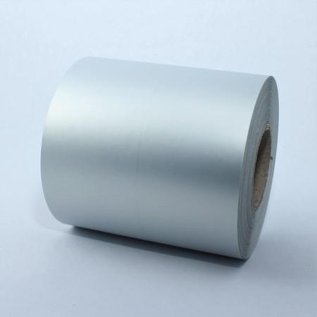 Kontinuální plastová role 40 mm stříbrná, 50 m