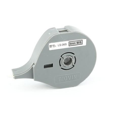 Štítková páska LS-06S stříbrná, 6 mm x 8 m