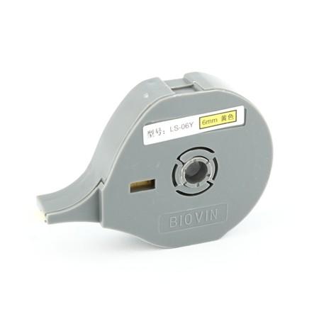 Štítková páska LS-06Y žlutá, 6 mm x 6 m