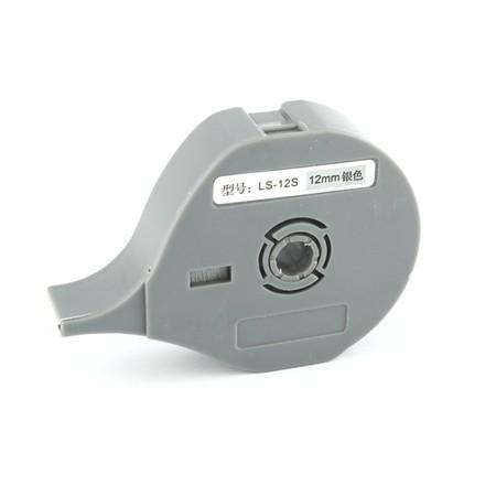 Štítková páska LS-12S stříbrná, 12 mm x 8 m