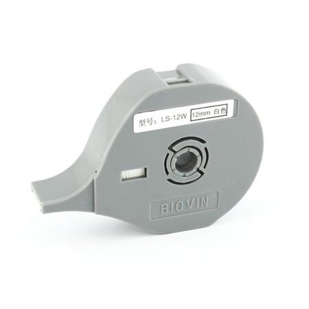 Štítková páska LS-12W bílá, 12 mm x 8 m