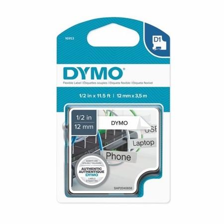 Páska Dymo S0718040 bílá/černý tisk, 12 mm, flexibilní nylonová