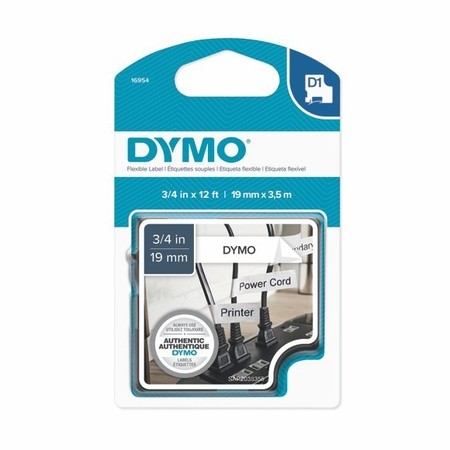 Páska Dymo S0718050 bílá/černý tisk, 19 mm, flexibilní nylonová