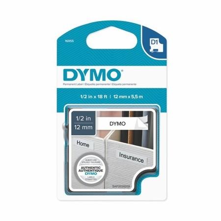 Páska Dymo S0718060 bílá/černý tisk, 12 mm, silné lepidlo