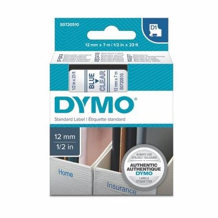 Páska Dymo S0720510 průhledná/modrý tisk, 12 mm