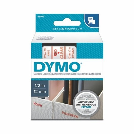 Páska Dymo S0720520 průhledná/červený tisk, 12 mm