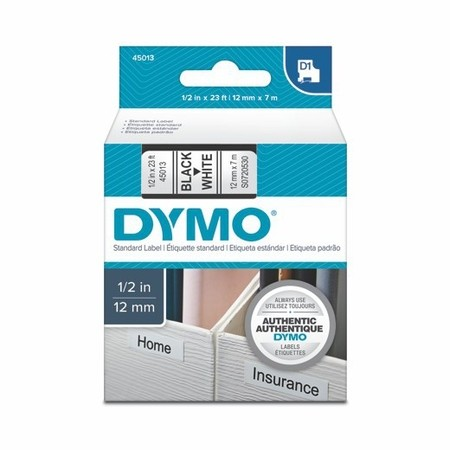 Páska Dymo S0720530 bílá/černý tisk, 12 mm