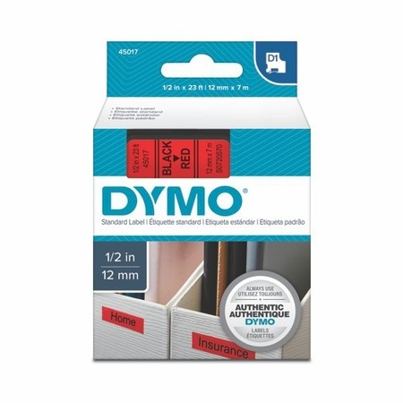 Páska Dymo S0720570 červená/černý tisk, 12 mm