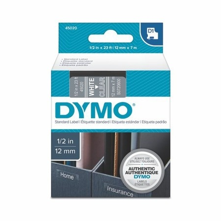 Páska Dymo S0720600 průhledná/bílý tisk, 12 mm