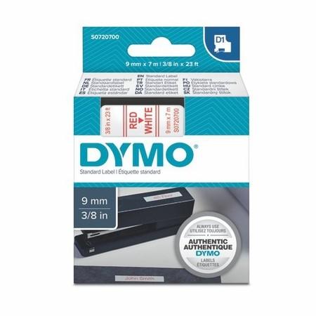 Páska Dymo S0720700 bílá/červený tisk, 9 mm