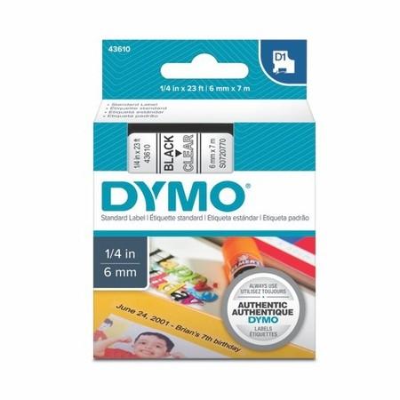 Páska Dymo S0720770 průhledná/černý tisk, 6 mm