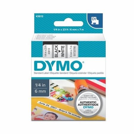 Páska Dymo S0720780 bílá/černý tisk, 6 mm