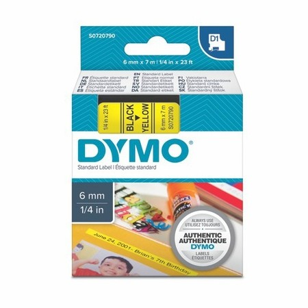 Páska Dymo S0720790 žlutá/černý tisk, 6 mm