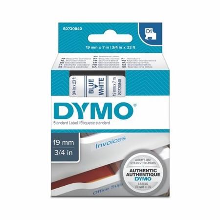 Páska Dymo S0720840 bílá/modrý tisk, 19 mm