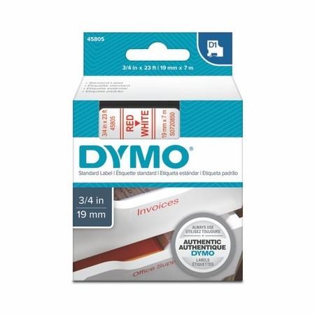 Páska Dymo S0720850 bílá/červený tisk, 19 mm