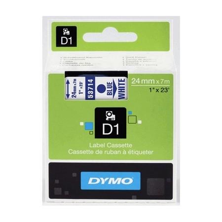 Páska Dymo S0720940 bílá/modrý tisk, 24 mm