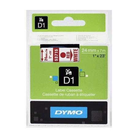 Páska Dymo S0720950 bílá/červený tisk, 24 mm