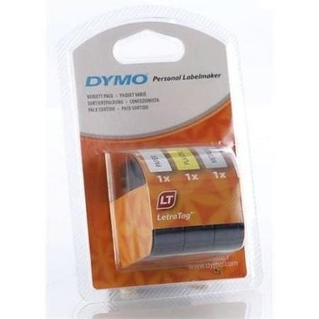 Páska Dymo S0721780 bílá/žlutá/stříbrná, 12 mm x 4 m, 3 ks