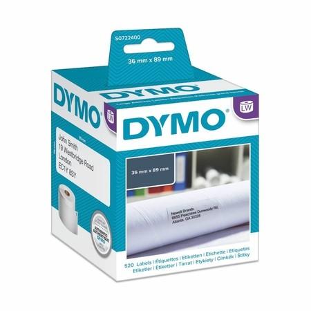 Papírové štítky Dymo S0722400, 89x36 mm, 2x260 ks