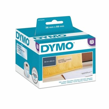 Papírové štítky Dymo S0722410 průhledné, 89x36 mm, 260 ks