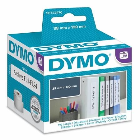 Papírové štítky Dymo S0722470, 190x36 mm, 110 ks