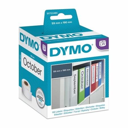 Papírové štítky Dymo S0722480, 190x59 mm, 110 ks