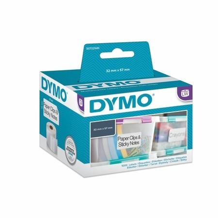 Papírové štítky Dymo S0722540 nepermanentní, 57x32 mm, 1000 ks