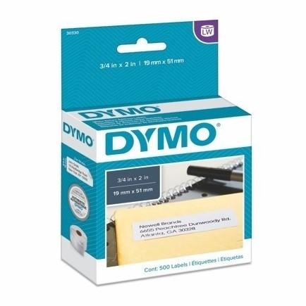 Papírové štítky Dymo S0722550 nepermanentní, 19x51 mm, 500 ks